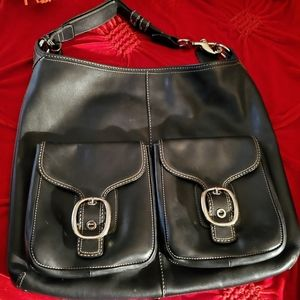 Large Coach shoulder purse